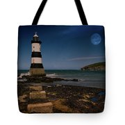 Penmon Lighthouse And Puffin Island Tote Bag