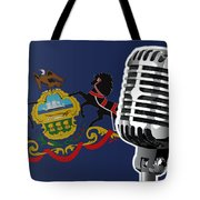 Pennsylvania Flag And Microphone Tote Bag