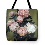 Peonies Front And Center Tote Bag