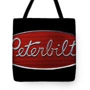 Peterbilt Emblem Black Tote Bag