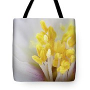 Philadelphus Flower Extreme Close Up With Pollen Tote Bag