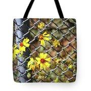 Phoenix Arizona Papago Park Blue Sky Red Rocks Scrub Vegetation Yellow Flowers 3182019 5327 Tote Bag