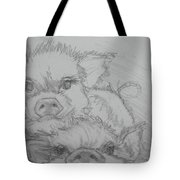 Photo Bomber Sketch Tote Bag by Jani Freimann