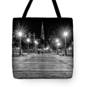 Pier 7 In Black And White Tote Bag