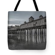 Pier At Dawn In Maine Tote Bag