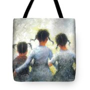 Pigtails Three Sisters Tote Bag