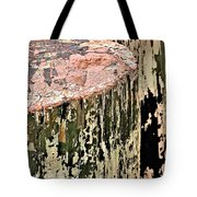 Pilings In Abstract Tote Bag