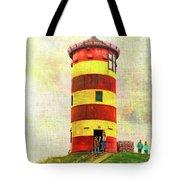 Pilsum Lighthouse Leuchtturm  Tote Bag