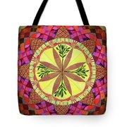 Pine Cone Mandala Tote Bag