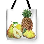 Pineapple Pear Watercolor Food Illustration  Tote Bag