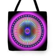 Pink Circus Sun  Tote Bag by Visual Artist Frank Bonilla