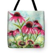 Pink Coneflowers Tote Bag