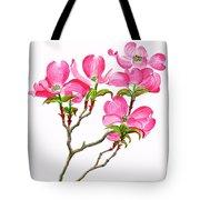 Pink Dogwood Vertical Design Tote Bag