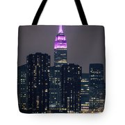 Pink Empire State Building Tote Bag