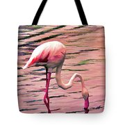 Pink Flamingo Two Tote Bag