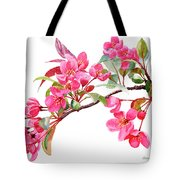 Pink Flowering Tree Blossoms Tote Bag
