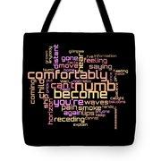 Pink Floyd - Comfortably Numb Lyrical Cloud Tote Bag