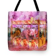 Pink Laughing Elephant Tote Bag