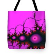 Pink Luminous Eyes Abstract Tote Bag by Don Northup