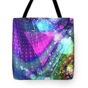Pink Triangle Fractal Tote Bag