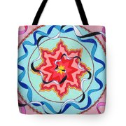 Pink, Yellow, Red Sun. Tote Bag
