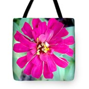 Pink Zinnia With Spider Tote Bag