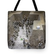 Pit 2 Of Terra Cotta Warriors, Xian, China Tote Bag