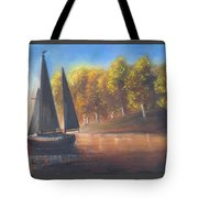Plain Sailing, Boat Painting Tote Bag