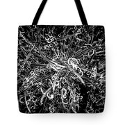 Plant Black And White Abstract Tote Bag