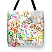 Play On Golf Words Tote Bag