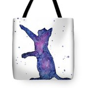 Playful Galactic Cat Tote Bag