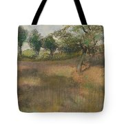 Ploughed Field Bordered By Trees Tote Bag