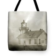Point Cabrillo Lighthouse California Sepia Tote Bag