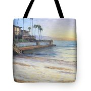 Point Of Rocks At Sunset Tote Bag
