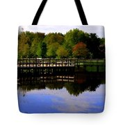 Pond Refletions Tote Bag