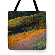 Poppies Bluebells And Rolling Hills Tote Bag