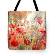 Poppy Fields Forever Tote Bag