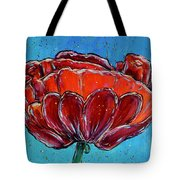 Poppy Flower Tote Bag by Jacqueline Athmann