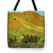 Poppy Hills And Gullies Tote Bag