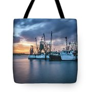 Port Orange Fishing Boats Tote Bag by Tom Singleton