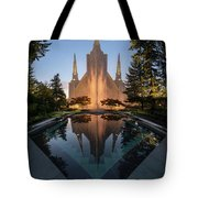 Portland Temple Night Tote Bag