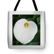 Portrait Of A Cala Lily Tote Bag