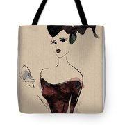 Portrait Of A Girl With Make Up Powder Tote Bag