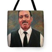 Portrait Of Artist Carl Butler Tote Bag