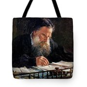 Portrait Of Leo Tolstoy Tote Bag