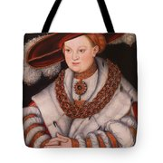 Portrait Of Magdalena Of Saxony, Wife Of Elector Koachim II Tote Bag