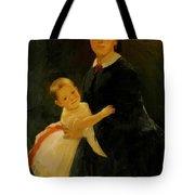 Portrait Of Shestova With Daughter Tote Bag