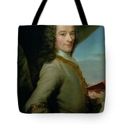 Portrait Of The Young Voltaire  Tote Bag