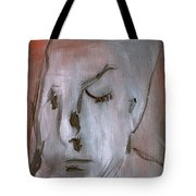 Portrait On Red Tote Bag