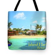 Post Card From Island Harbour Anguilla Tote Bag by Ola Allen